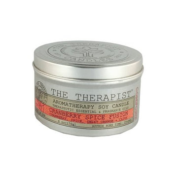 The Therapist Candles No. 02 Cranberry Spice Fusion Soy Scent Jar Candle
