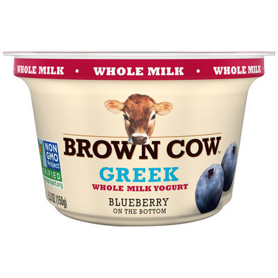 Brown Cow™ Blueberry on the Bottom Greek Whole Milk Yogurt 5.3 oz. Cup