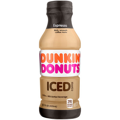 Dunkin Donuts® Espresso Iced Coffee 13.7 fl. oz. Bottle