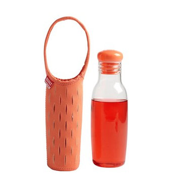 Built Glass Water Bottle with Neoprene Carrying Sleeve, 17 oz - Coral