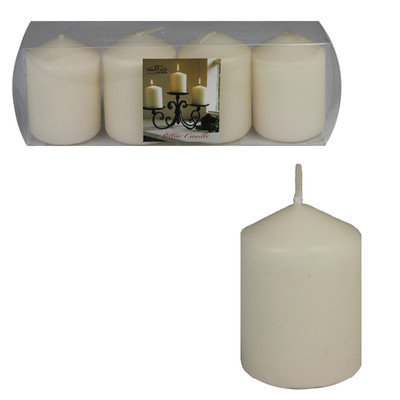 Essential Decor & Beyond Votive Candle Color: Ivory
