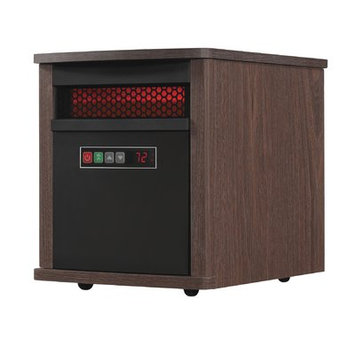Duraflame 5,200 BTU Portable Electric Infrared Cabinet Heater Finish: Mahogany