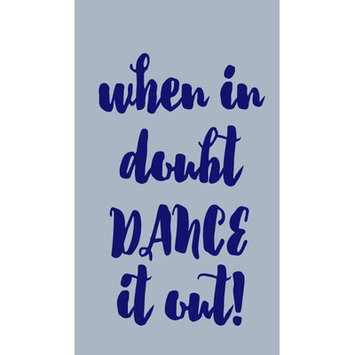 Sweetumswalldecals When in Doubt Dance It Out Wall Decal Color: Navy