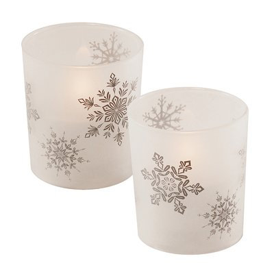 Red Barrel Studio Snowflakes Glass Unscented Candle