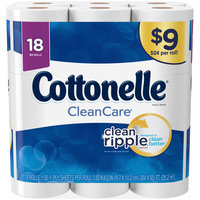 Cottonelle® CleanCare® 1-Ply Big Roll Toilet Paper 18 ct Pack
