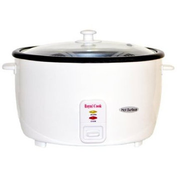 Royal Cook Persian 25 Cup Rice Cooker with Glass Lid
