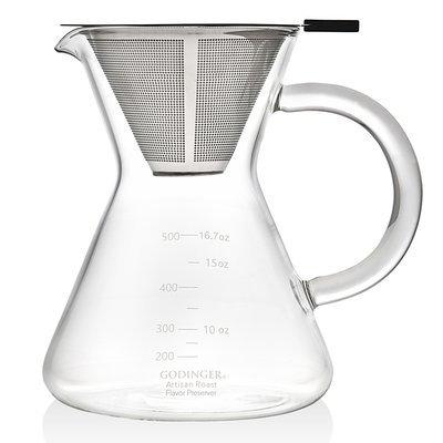 Godinger Silver Art 60-Cup Artisinal Roast Cold Press Pour Over Coffee Maker