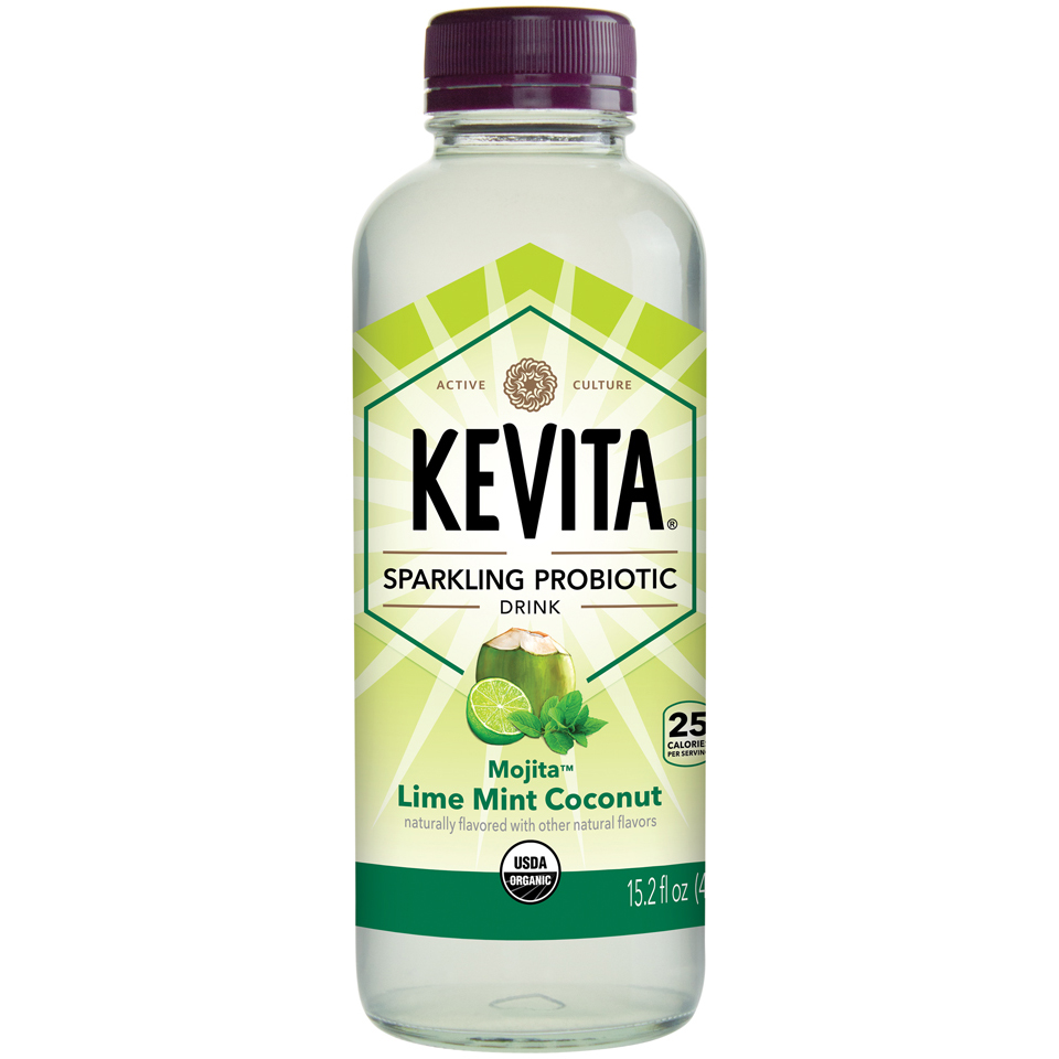 Kevita® Mojita™ Lime Mint Coconut Sparkling Probiotic Drink 15.2 fl. oz. Bottle