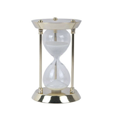 Cole & Grey Metal Glass 15 Minute Hourglass Size: 6