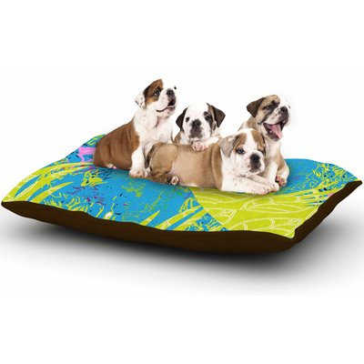 East Urban Home Pattern Muse 'Tropical Fly-By' Dog Pillow with Fleece Cozy Top