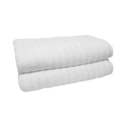 Jessica Simpson Home Jessica Simpson Sculpted Made in the USA Bath Towel 2 Pk. Color: White