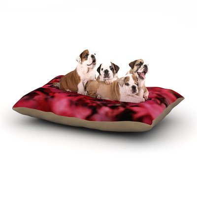 East Urban Home Angie Turner 'Red Leaves' Leaf Dog Pillow with Fleece Cozy Top Size: Small (40