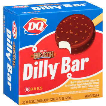 DQ® Dilly® Bar Made with Heath Milk Chocolate English Toffee Bits Ice Cream Bars 6-3.5 fl. oz. Box