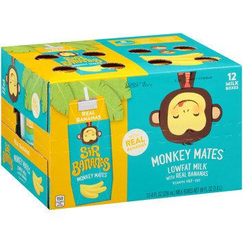 Sir Bananas® Monkey Mates™ Real Bananas Lowfat Milk 12-8 fl. oz. Aseptic Packs
