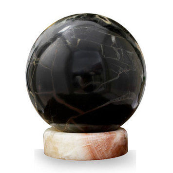 Novica Gemstone Sphere with Stand Sculpture