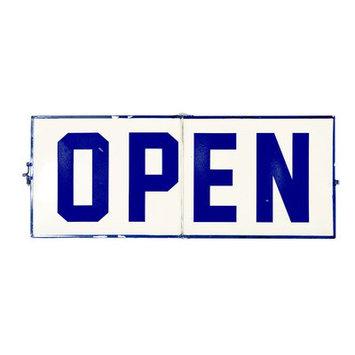VIP International MT2499 Metal Open & Closed Sign Blue - 8 Per Case