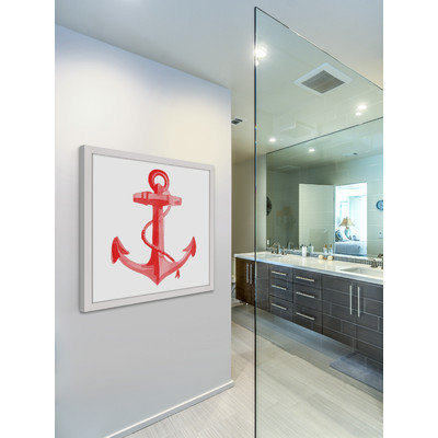 Marmont Hill Inc Marmont Hill - 'Anchor' by Molly Rosner Framed Painting Print