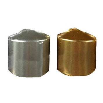 Essential Decor & Beyond Pillar Candle Color: Gold/Silver, Size: 4