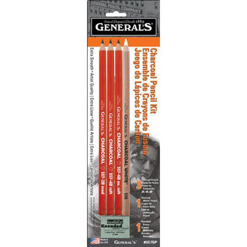 General Pencil Company General Pencil Charcoal Pencil Kit, 5-Pack