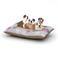 East Urban Home Emma Frances 'Lively Blossoms' Dog Pillow with Fleece Cozy Top Size: Large (50