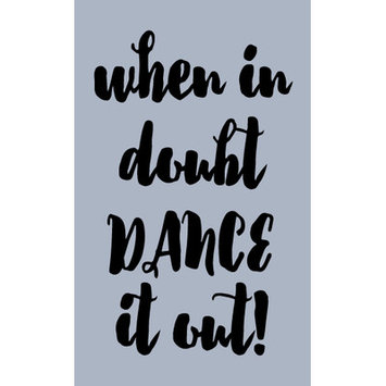 Sweetumswalldecals When in Doubt Dance It Out Wall Decal Color: Black