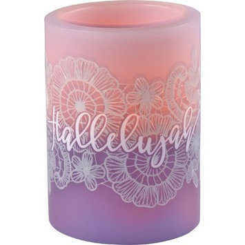 Precious Moments Battery Operated Unscented Pillar Candle Size: 4