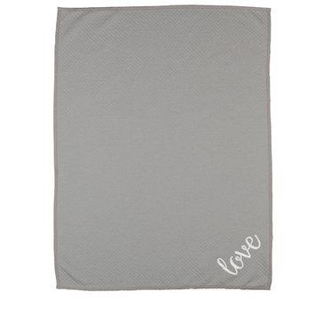 Livingtextilesbaby Paper Swans Love Diamond Matelasse Blanket
