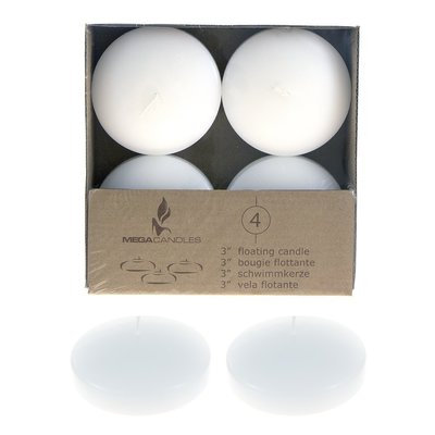 Wgvinternational Unscented Floating Candle Color: White