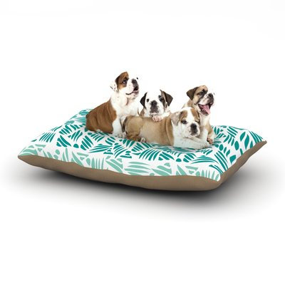 East Urban Home Pom Graphic Design 'Bamboo' Dog Pillow with Fleece Cozy Top Size: Small (40