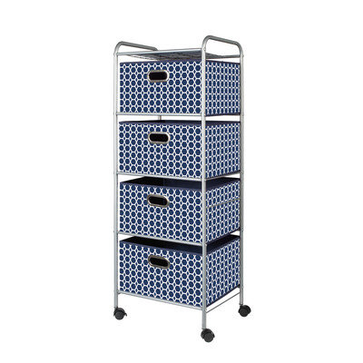 Bintopia 4 Drawer Decorative Trolley Cart