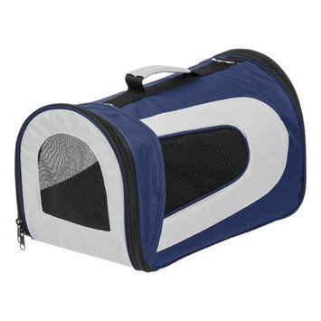 Iris Small Soft Pet Carrier Color: Navy, Size: 10.63