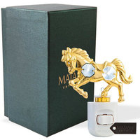 Matashicrystal 24K Gold Plated Crystal Studded Horse LED Night Light