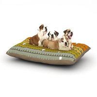 East Urban Home Pellerina Design 'Rainbow Scallops' Dog Pillow with Fleece Cozy Top Size: Small (40
