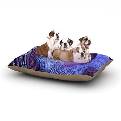 East Urban Home Monika Strigel 'Purple Peacock' Dog Pillow with Fleece Cozy Top Size: Small (40