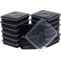 Rebrilliant Lunch Boxes 32 Oz Food Storage Container Color: Black