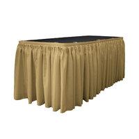 La Linen Table Skirt Color: Taupe