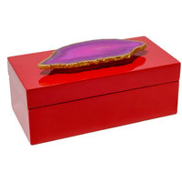 Mapleton Drive Lacquer Box with Agate