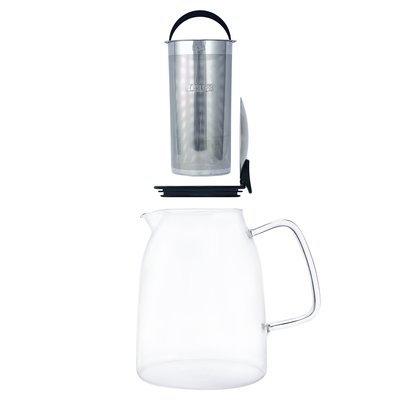 FORLIFE Mist Iced Tea Jug with Basket Infuser, 68-Ounce, Black Graphite