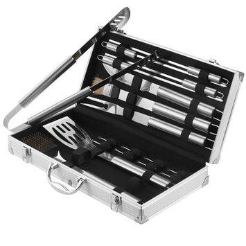 VonHaus18 Piece Stainless Steel BBQ Utensil Set + FREE Aluminium Carry Case