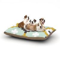 East Urban Home Pellerina Design 'Gold Mint Moroccan Diamonds' Dog Pillow with Fleece Cozy Top Size: Small (40