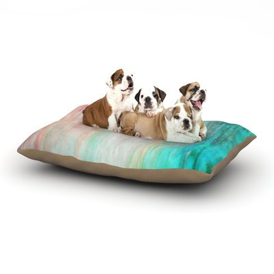 East Urban Home Iris Lehnhardt 'Color Wash' Dog Pillow with Fleece Cozy Top Size: Large (50