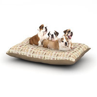 East Urban Home Marianna Tankelevich 'Cute Birds' Grid Dog Pillow with Fleece Cozy Top Size: Large (50