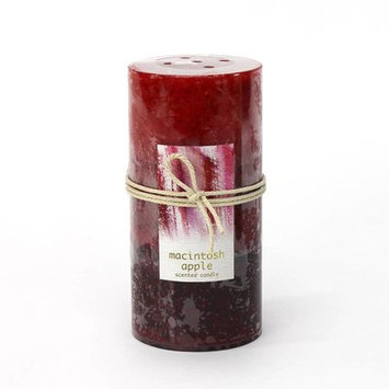 Alcott Hill Tangerine Mango Scented Pillar Candle Color: Red, Size: 3