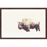 Marmont Hill Inc Marmont Hill - 'Icy Fur 2' Framed Painting Print
