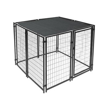 Aleko Dog Kennel Shade Cover with Aluminum Grommets Color: Black, Size: 60
