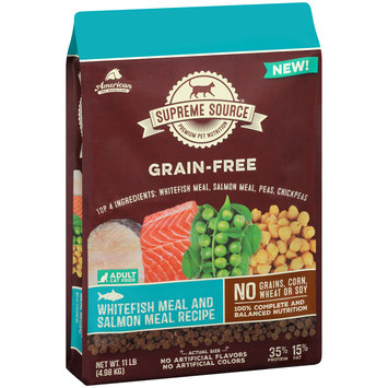 Supreme Source® Grain-Free Whitefish Meal and Salmon Meal Recipe Cat Food 11 lb. Bag