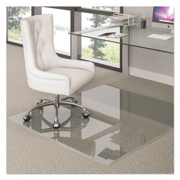 Deflect-o deflecto Premium Glass Chair Mat, 44 x 50, Clear