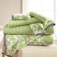 Alcott Hill Lattice Rod 6 Piece Towel Set Color: Sage Green