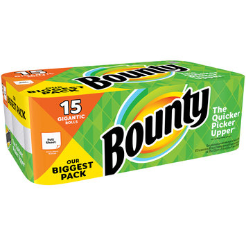 Bounty White Paper Towels 15 ct Pack