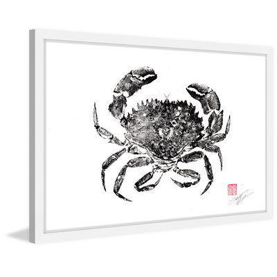 Marmont Hill Inc Marmont Hill - 'Rock Crab' by Dwight Hwang Framed Painting Print